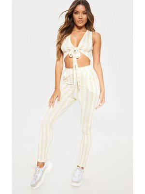 PrettyLittleThing stripe high waisted skinny pants