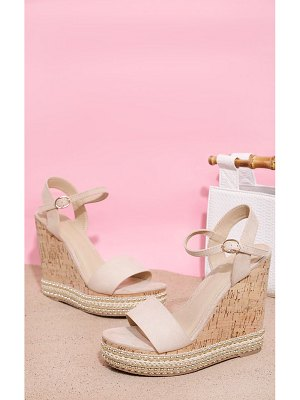PrettyLittleThing studded cork wedge sandal