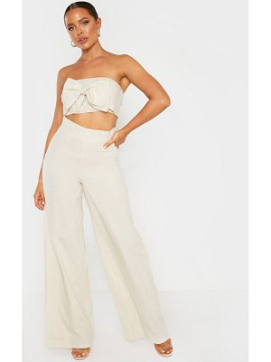 PrettyLittleThing super high waisted woven wide leg pants