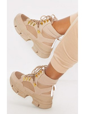 PrettyLittleThing lace up cleated sole hiker boot