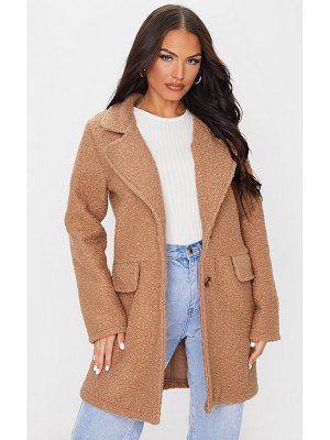 PrettyLittleThing teddy button down coat