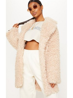 PrettyLittleThing teddy faux  fur coat