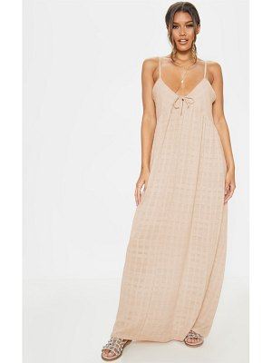 PrettyLittleThing textured cotton beach maxi dress
