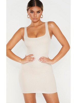 PrettyLittleThing textured croc sleeveless bodycon dress