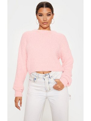 PrettyLittleThing textured soft knit crop sweater