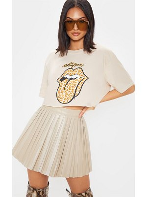 PrettyLittleThing the rolling stones tongue crop t shirt