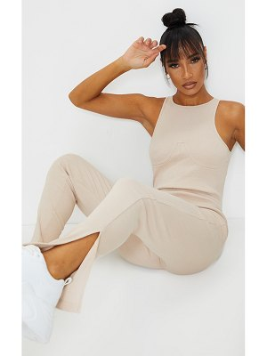 PrettyLittleThing thick rib bust seam detail jumpsuit