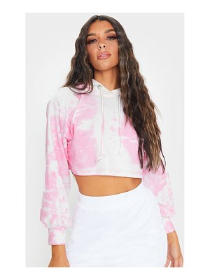 PrettyLittleThing tie dye cropped hoodie