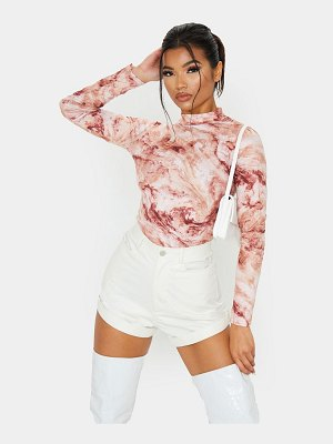 PrettyLittleThing tie dye printed long sleeve t shirt