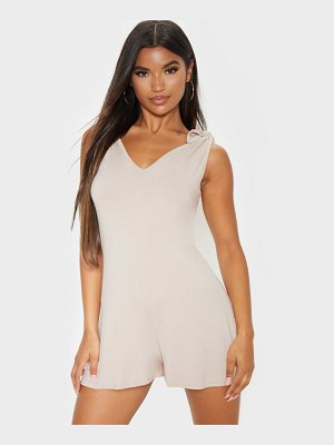 PrettyLittleThing tie shoulder slouch romper