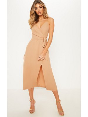 PrettyLittleThing tie side strappy midi dress