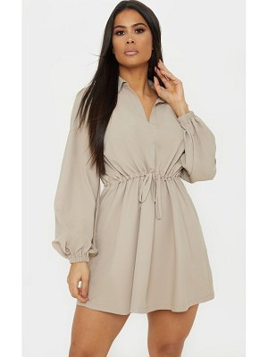 PrettyLittleThing tie waist cargo dress