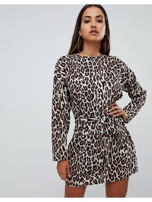 PrettyLittleThing tie waist dress
