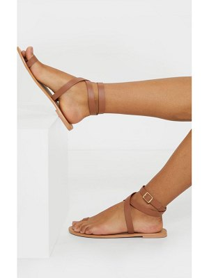 PrettyLittleThing toe loop barely there ankle strap sandals