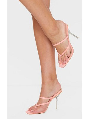 PrettyLittleThing toe thong strappy pin heel mules