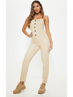 PrettyLittleThing tortoise shell button up detail jumpsuit