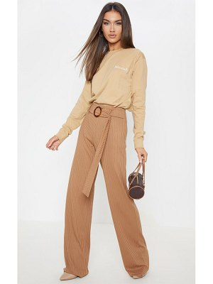PrettyLittleThing tortoise shell rib wide leg pants