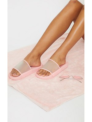 PrettyLittleThing transparent chunky slides