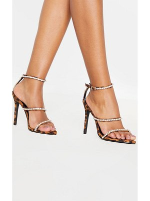 PrettyLittleThing triple strap diamante sandal