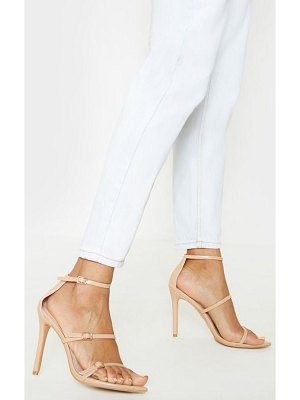 PrettyLittleThing triple strap point toe sandal
