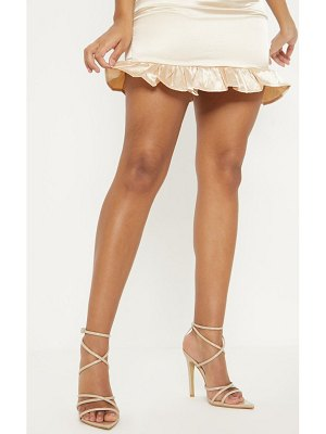 PrettyLittleThing tube strappy point toe sandal