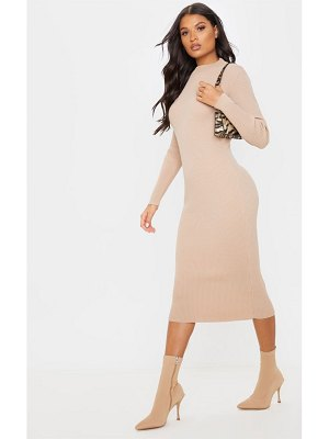 PrettyLittleThing turtle neck midaxi long sleeved dress
