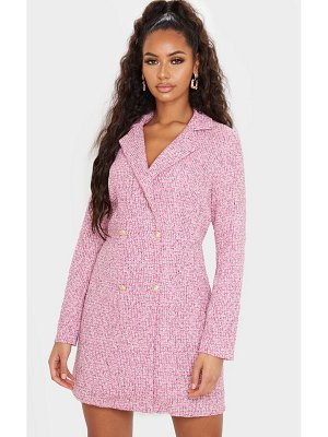 PrettyLittleThing tweed gold button blazer dress