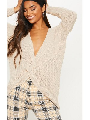 PrettyLittleThing twist front sweater