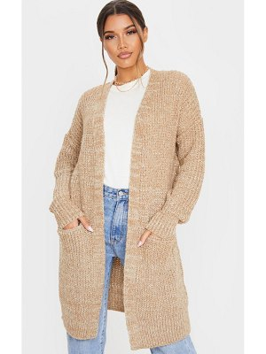 PrettyLittleThing two tone cable knit cardigan
