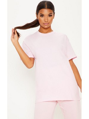 PrettyLittleThing ultimate light pink oversized t shirt