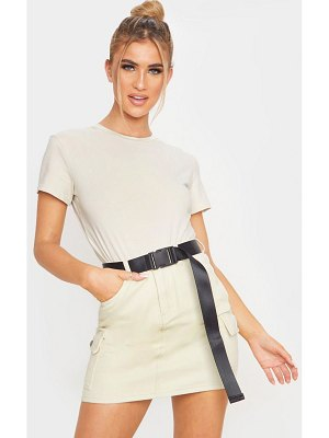 PrettyLittleThing utility belted denim skirt