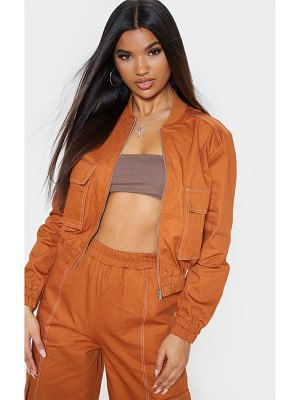 PrettyLittleThing utility pocket detail bomber jacket