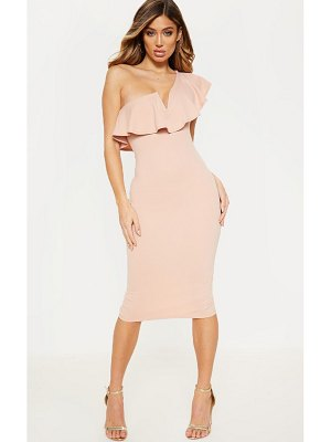 PrettyLittleThing v bar one shoulder midi dress