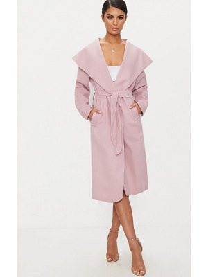 PrettyLittleThing veronica dusty oversized waterfall belt coat