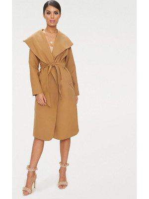 PrettyLittleThing veronica oversized waterfall belt coat