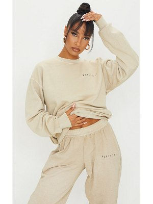 PrettyLittleThing washed oversized sweater