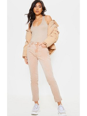 PrettyLittleThing washed straight leg jean