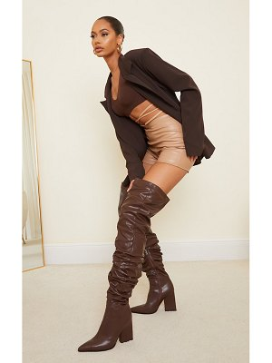 PrettyLittleThing western slouch over the knee boots