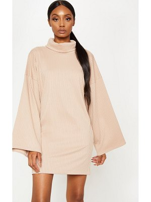 PrettyLittleThing wide rib high neck oversized sweater dress