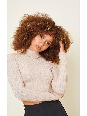 PrettyLittleThing wide rib knitted long sleeve crop sweater