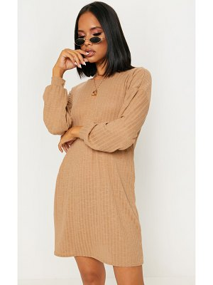 PrettyLittleThing wide ribbed oversized jumper dress