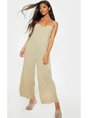 PrettyLittleThing woven culotte slouchy jumpsuit