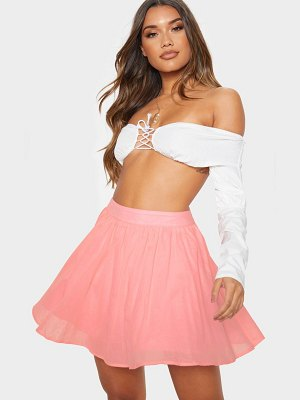 PrettyLittleThing woven full skater skirt