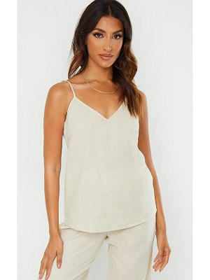 PrettyLittleThing woven long strappy cami top