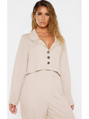 PrettyLittleThing woven oversized beach shirt