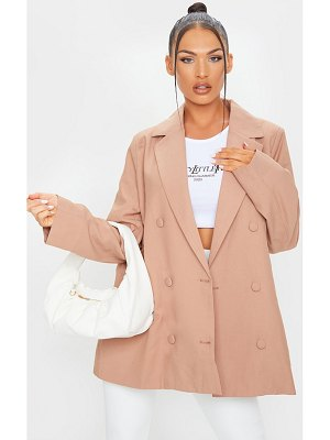 PrettyLittleThing woven triple breasted oversized blazer