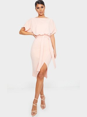 PrettyLittleThing wrap front kimono sleeve midi dress