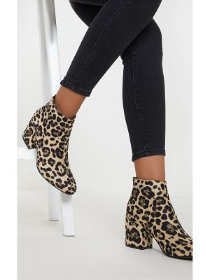 PrettyLittleThing zip back ankle boot