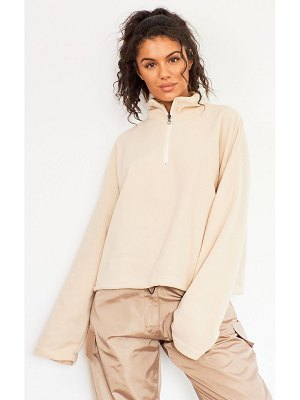 PrettyLittleThing zip front fleece sweater