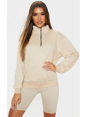 PrettyLittleThing zip front oversized sweater